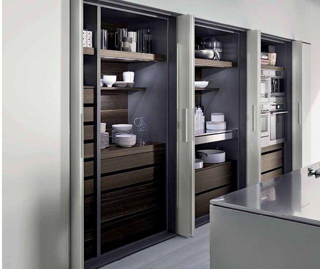 Moderne Küche / Holzfurnier / aus Stahl / Kochinsel - TK38 by Massimo Castagna - Rossana
