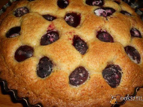 Быстрый пирог со сливами