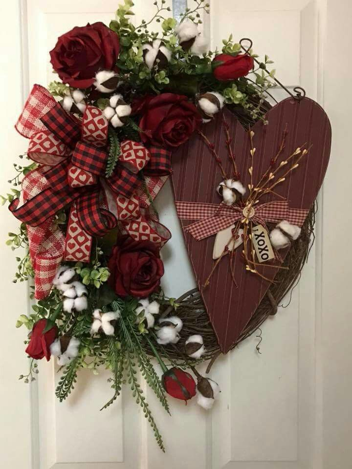 Pin By Joyce Miller On Wreaths Pinterest Valentine Wreath Day And Christmas