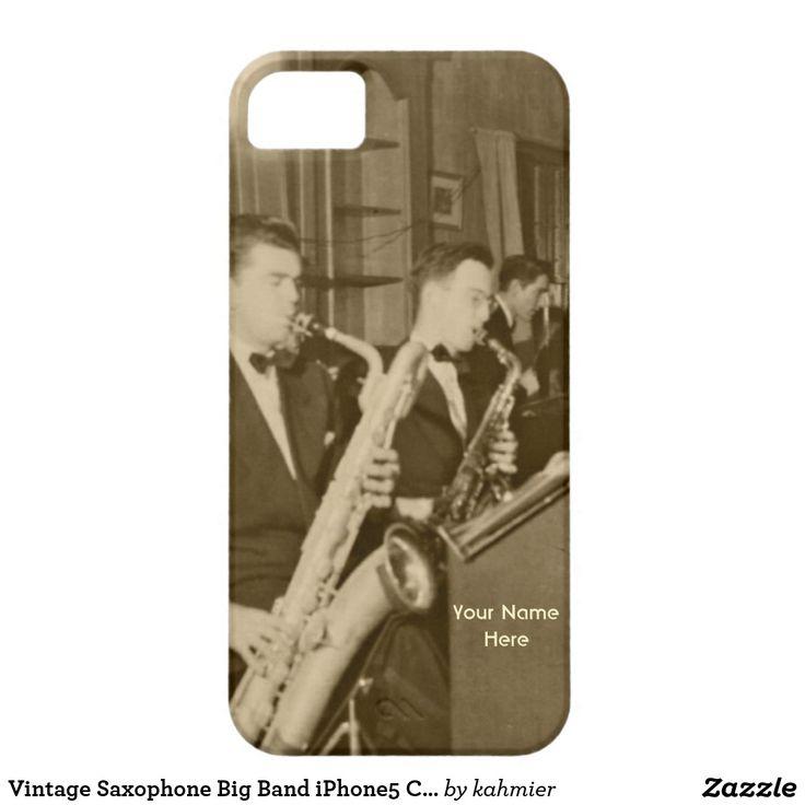 Vintage Saxophone Big Band iPhone5 Case