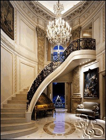 Luxury staircase staircases and luxury on pinterest for Luxury staircase