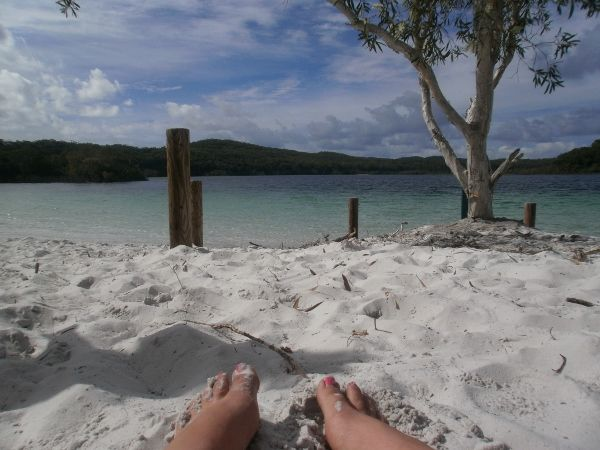 Driving and camping across Fraser Island, Australia