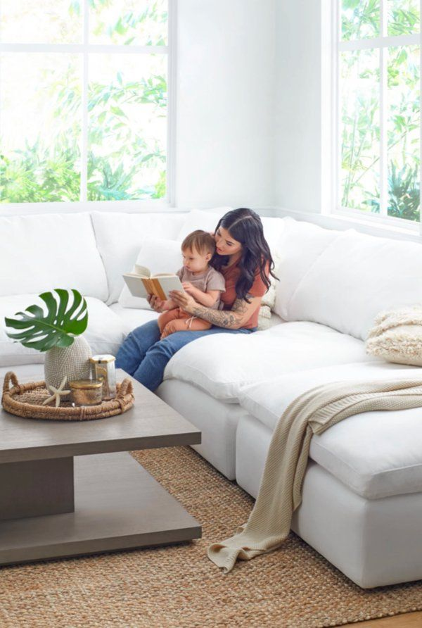 Our Nixon Sectional Will Meet All Of Your Living Room Furniture Needs Not Only Is It Customizable To Fi In 2020 Victorian Living Room City Furniture White Fabric Sofa