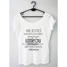 Time For Fashion Nie jesteś / t-shirt biały