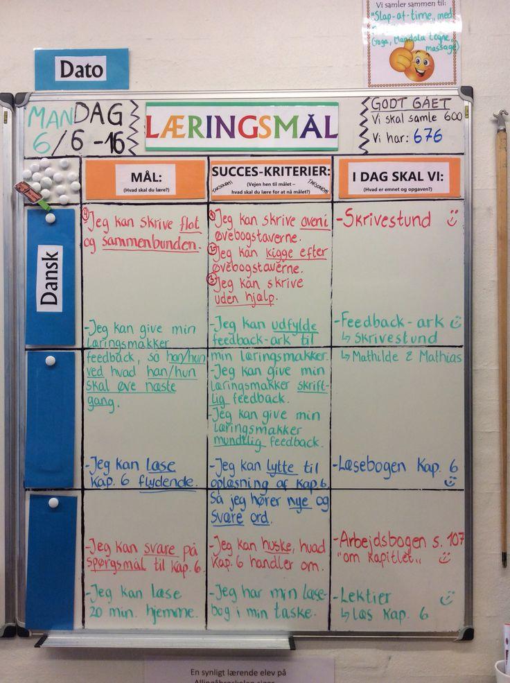 """Dagens læringsmål i 3 klasse. Vi har idag taget hul på taksonomier ift. Succeskriterier. Børnene synes det er smart at """"vejen til målet"""" bliver endnu mere synlig for dem..."""