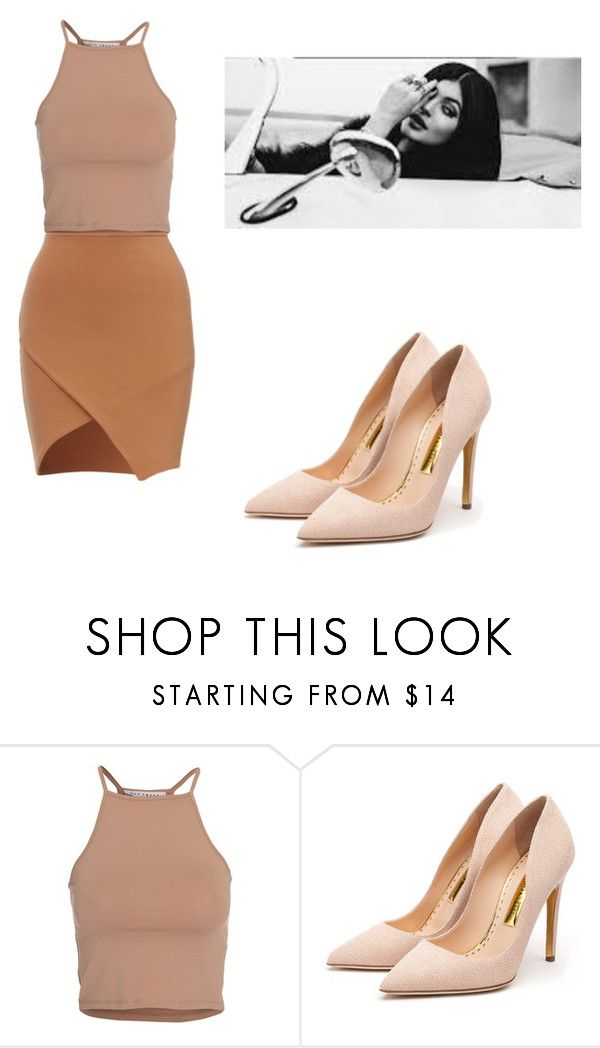 """nude"" by escarletmix14 on Polyvore featuring moda, NLY Trend, Rupert Sanderson, women's clothing, women's fashion, women, female, woman, misses y juniors"