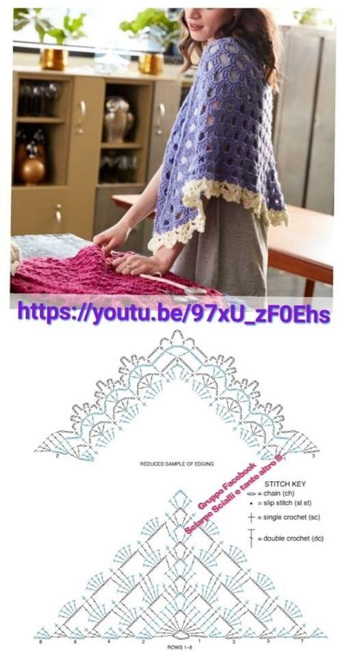 Pin de Sarmīte Grosa en Apmetnis | Crochet, Crochet Shawl y Crochet hats