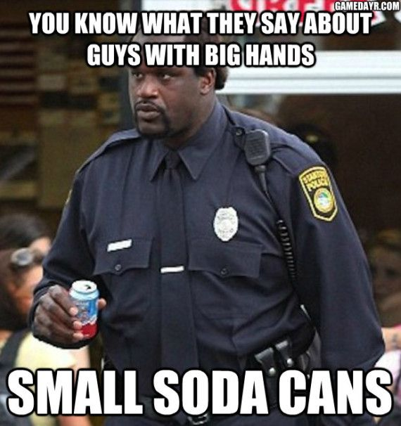 shaq 12 ounce can of soda meme