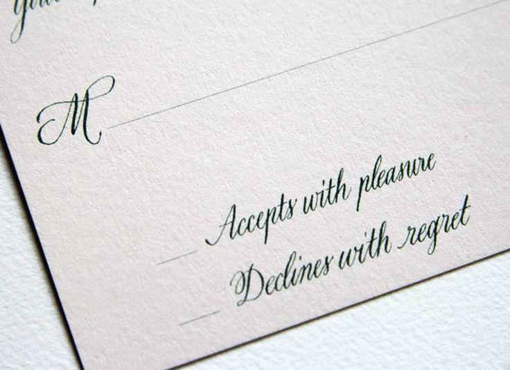 Reply Card - Calligraphy - Dallas Calligrapher