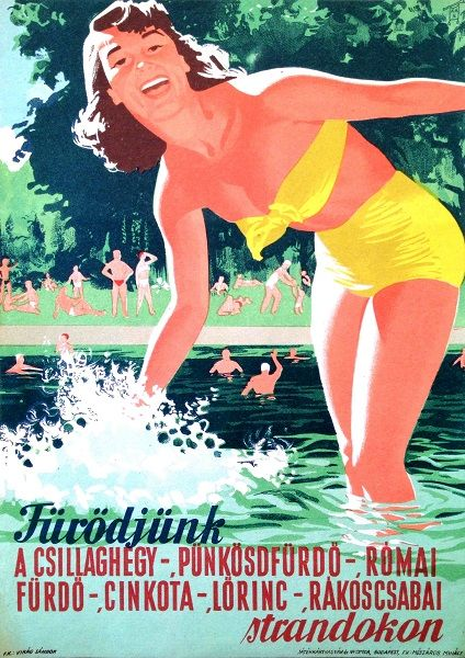 Beaches in Budapest - Let's Bathe! (1956)