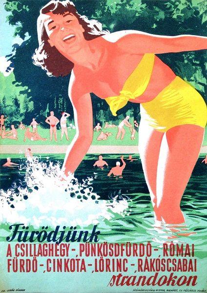 Vajda Lajos, Let's Bathe!, 1958