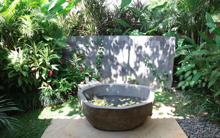 Villa Amy gorgeous opensky bathroom @Dea Villas  #Bali #DeaVillas #Amy #Indonesia #bathroom #homedecor