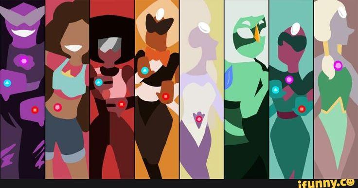 Fusion Universe - (from left to right) Sugilite, Stevonnie, Garnet <3, Sardonyx, Rainbow Quartz, Malachite, Alexandrite, and Opal <3