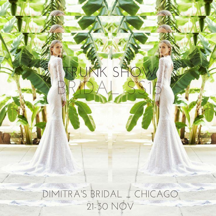 Don't miss our upcoming #Bridal #SpringSummer2015 #TrunkShow at Dimitra's Bridal in #Chicago! #madeingreece #dridetobe #christoscostarellos #costarellos #costarellosbride #fashionnews #bridalgown #bridaldress #bridalmarket #madeingreece #lace #weddingideas #luxury #luxurywedding #lux #instafashion #fashion #brides #instabride #bridalchic #perfectwedding #perfectweddingdress #bridetobe #bridalcouture #chicagofashion #chicagobride #chicagochic #chicagowedding