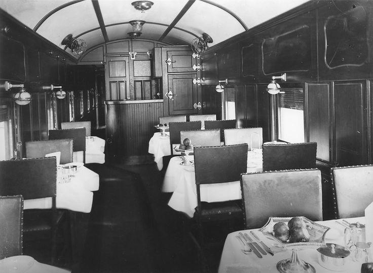 circa 1929 Interior ND35 dining car (Chris Drymalik Collection)
