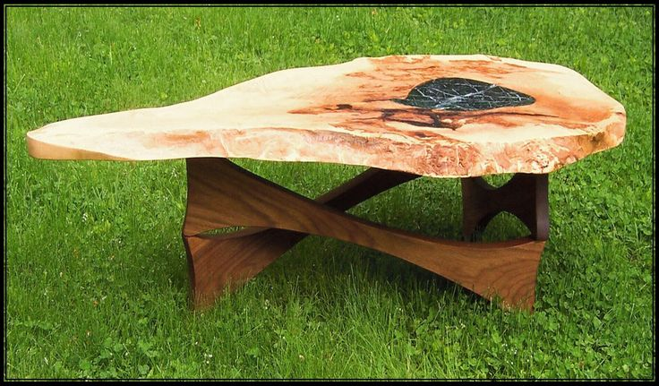 Cherry Burl Coffee Table With Marble Inlay Products I