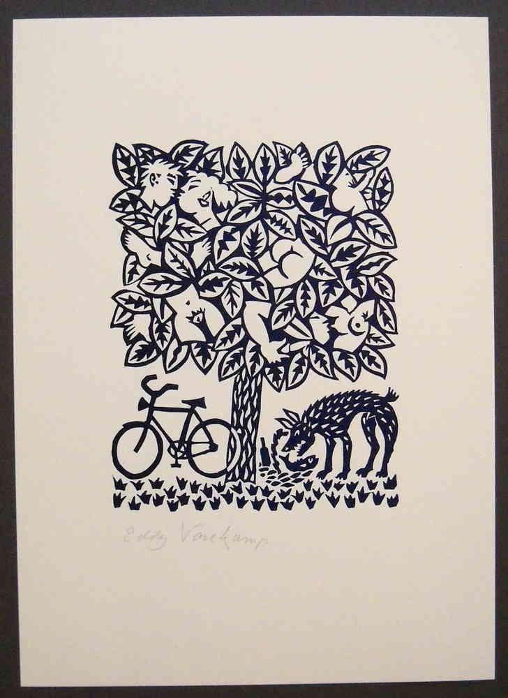 Linocut, Loveley tree!