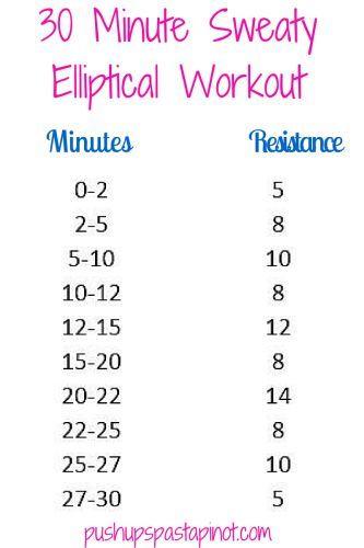 30 MInute Elliptical Workout