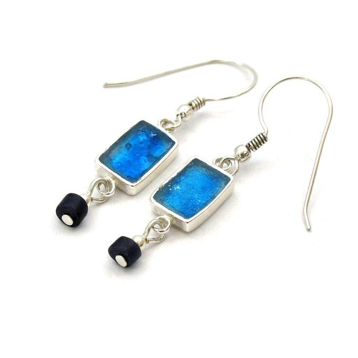 #Earrings, #Glass, #Jewelry Delicate Roman Glass  Rectangle Earrings Roman by MichalDesigns - http://www.judaic-jewelry.com/earrings/delicate-roman-glass-rectangle-earrings-roman-by-michaldesigns.html