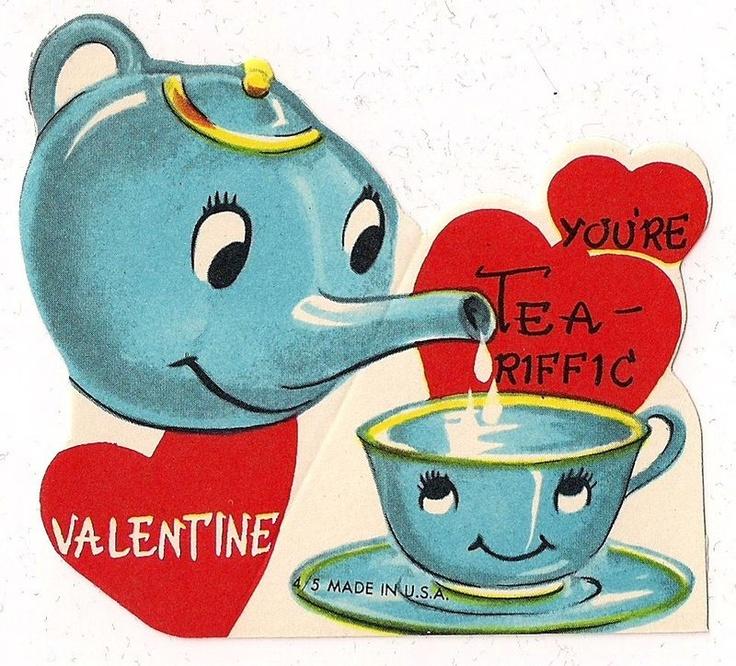 Tea-riffic valentines card