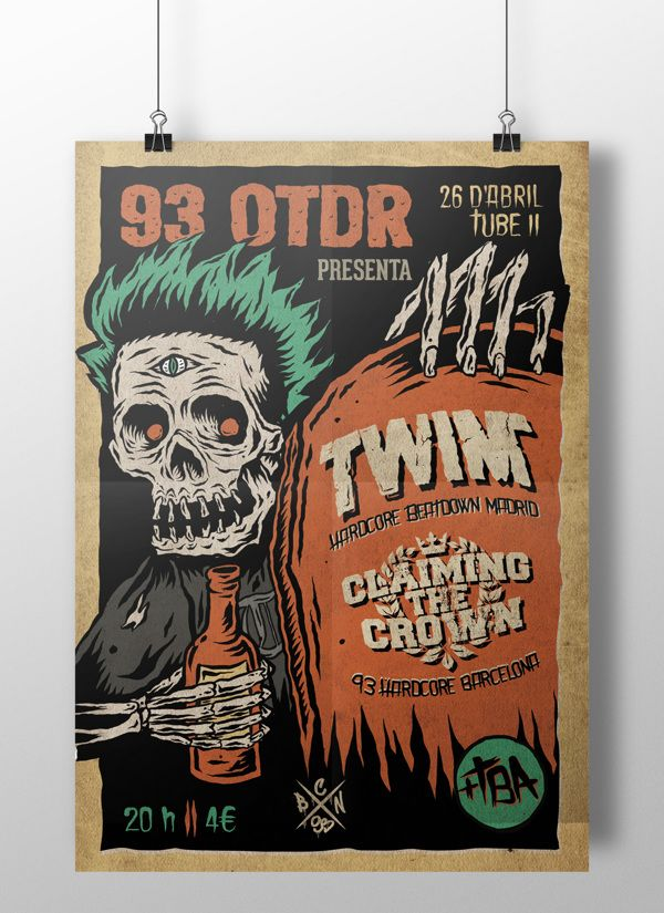 Poster for Twin gig by Marc Pallàs, via Behance