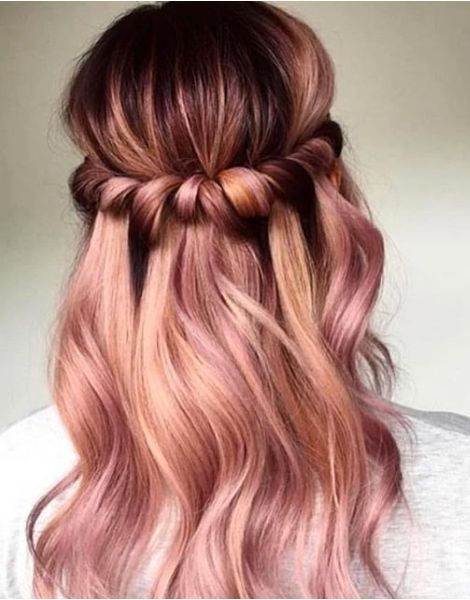 Ideas de color de cabello de oro rosa #Oro #Color de cabello #Rosa