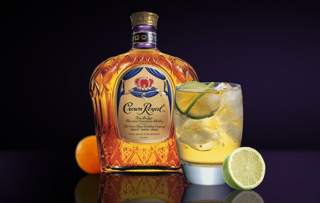Crown Royal - drink called Sidecar    Ingredients:  Crown Royal® - 1.25 oz.  Orange Liqueur - 0.25 oz.  Lemon Juice - 0.25 oz.    Combine ingredients in a shaker. Shake and pour into a sugar-rimmed glass for a light, sweet and satisfying cocktail.