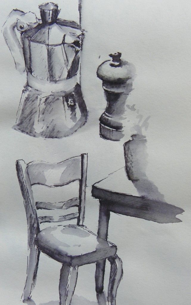 bits and pieces, watersoluble pen