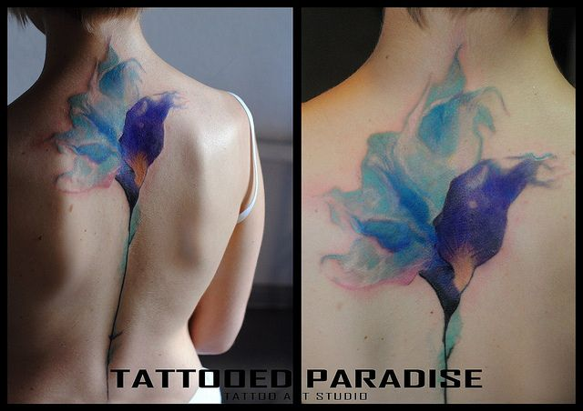 Energetic Watercolor Tattoos By Koray Porndish 1