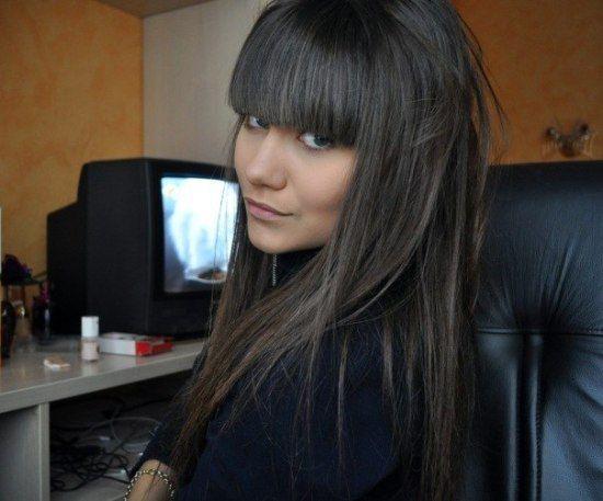 Графитный цвет волос