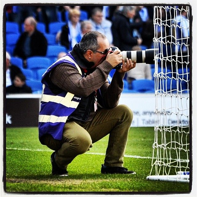 Snappy doing what he does best #football #soccer #skybet #championship #brighton #hove #albion #seagulls #snappy #photographer #canon