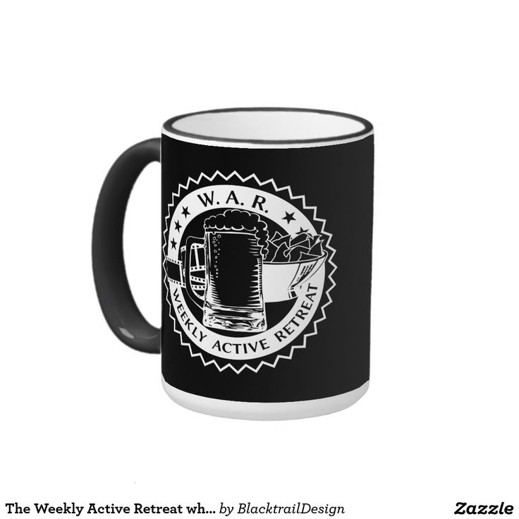 The Weekly Active Retreat white edition Ringer Mug