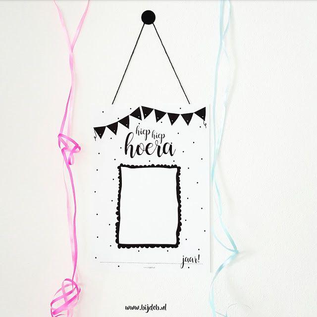 bij deb: Verjaardags poster voor in de klas...