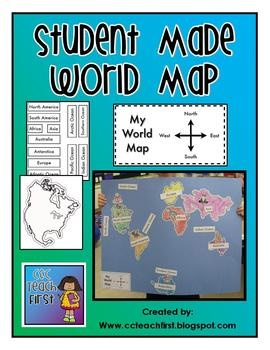 Make a World Map, free Resourse with continents, labels and ocean labels: Stellar Students, Globes, Schools Ideas, Continents And Oceans, World Maps, Teaching Maps Skills, Social Studies, Social Study, 3Rd Grade