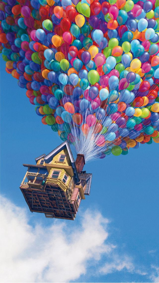 Up House iPhone 5 Wallpaper (640x1136)