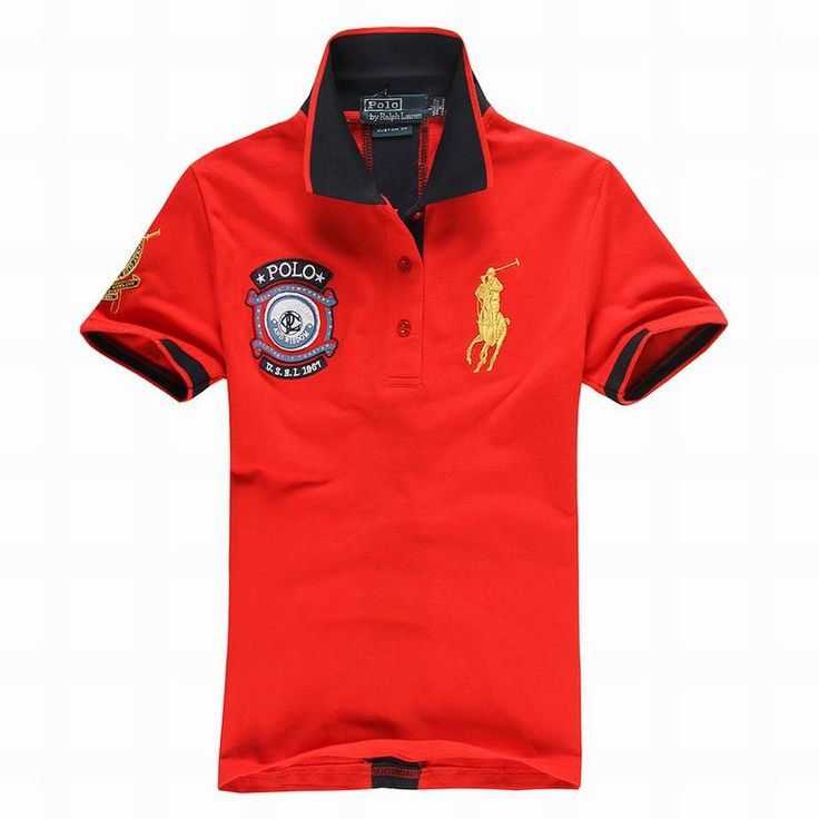 cheap ralph lauren online Women's USRL 1967 Short Sleeve Polo Shirt Red  http://