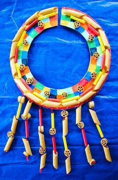 Learning about African culture? Here's a fun #lessonplan addition. African Pasta Collar Necklace Activity.