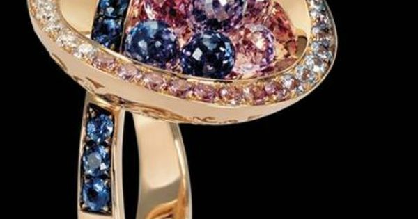 Yellow gold rings, Blue sapphire and Pink diamonds on Pinterest