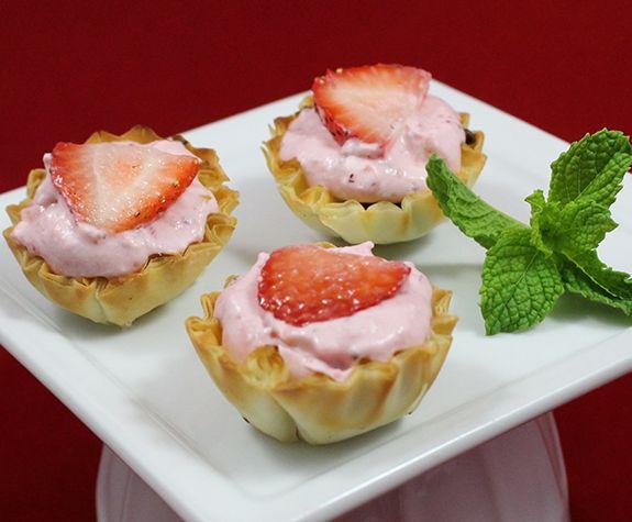 Strawberry Mascarpone Tartlets | Athens Foods