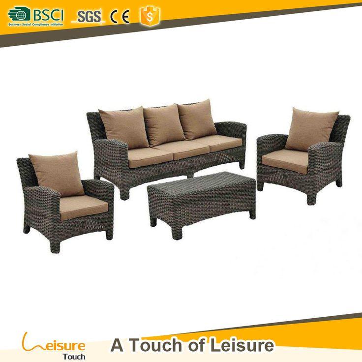 Fancy Best price synthetic rattan garden patio sofa set cheap wicker sofa outdoor furniture