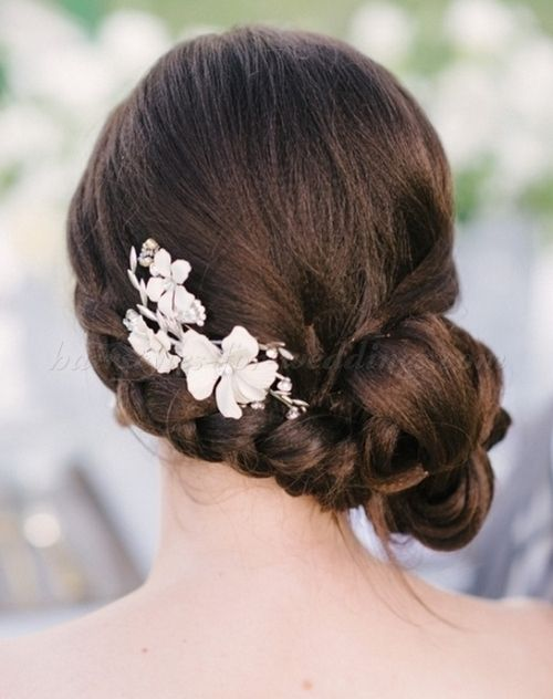 wedding updos - side chignon with braid