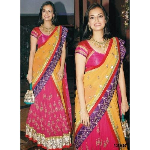 Online Shopping for New Bollywood Replica Diya Mirza St   Bollywood Sarees   Unique Indian Products by arj.creation - MARJ.79237132180
