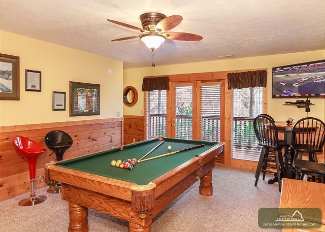 Hidden Haven has a full size pool table and a gold cable package with sports channels, HBO & Cinemax for the whole family to enjoy.