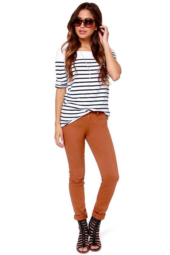Over 1000 idéer om Brown Skinny Jeans på Pinterest | Skinny jeans ...