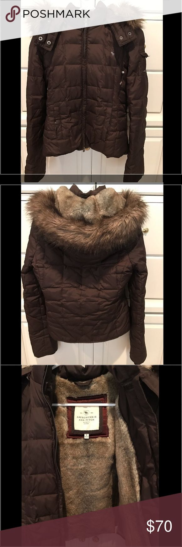 Abercrombie and Fitch Winter faux fur jacket Gently worn Abercrombie and Fitch winter coat in very good condition. Lined with faux fur on the inside and around the hood. Abercrombie & Fitch Jackets & Coats Puffers