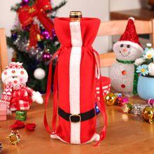 Meias & Titulares Garrafa De Vinho Cobre Roupas Com Cintos de Presente de Natal Decoração Do Partido Jantar Talheres Decoração Para Festival(China)