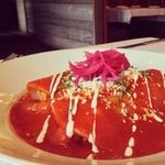 12-7-12 Besito #west Hartford special: #Enchilada de Mariscos ~ soft corn #tortillas stuffed with bay scall http://instagr.am/p/S8yFHUiaFw/
