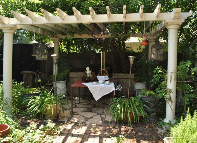 25 peaceful small garden landscape design ideas pergola