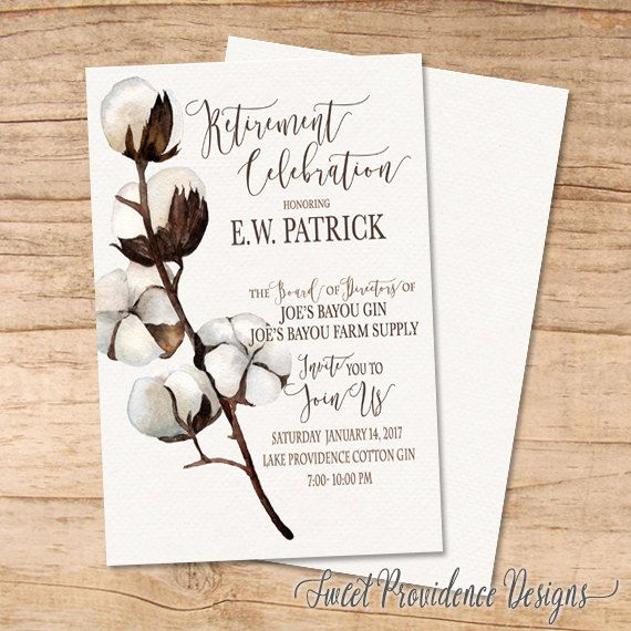 Retirement Celebration Invitation/ Retirement by SweetProvidence