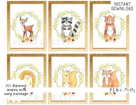 Best 25 Woodland Animal Nursery Ideas Only On Pinterest